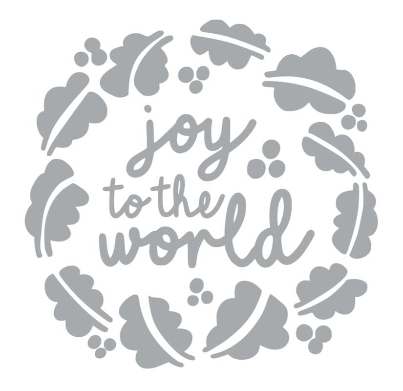 1008 Joy to the World Wreath