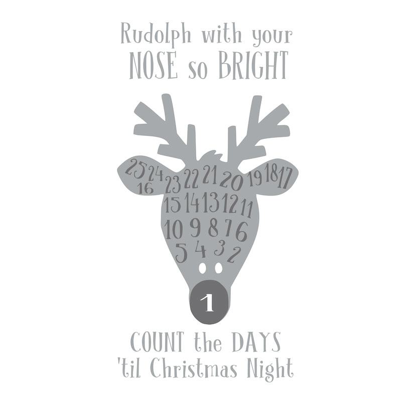 1015 Countdown to Christmas Rudolph