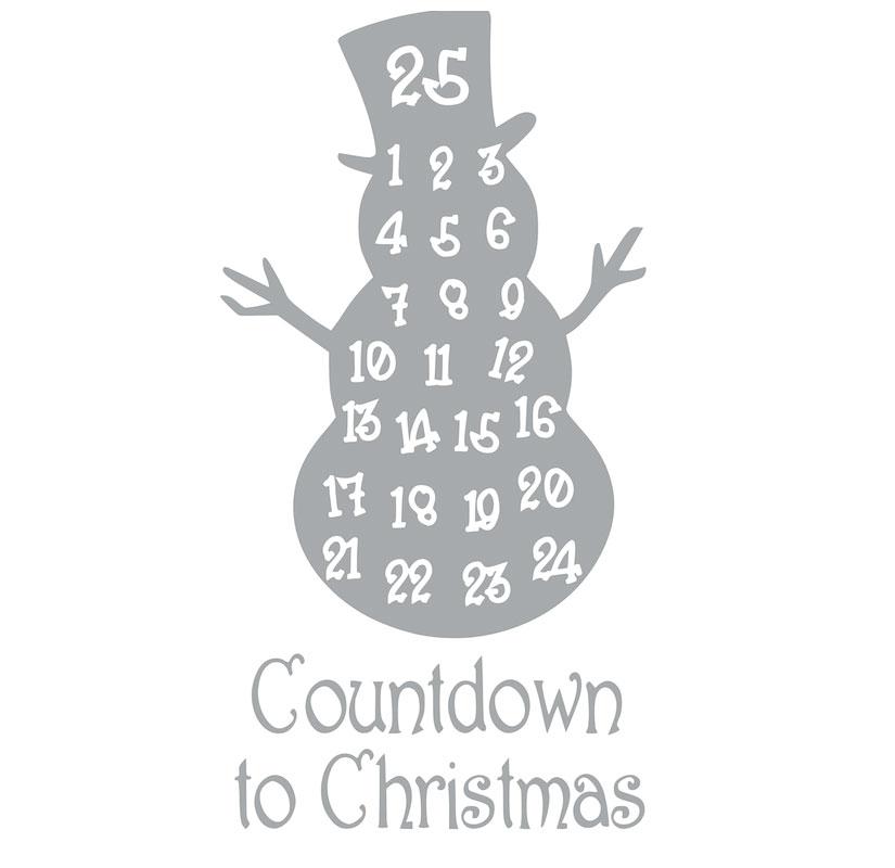 1017 Countdown to Christmas Snowman