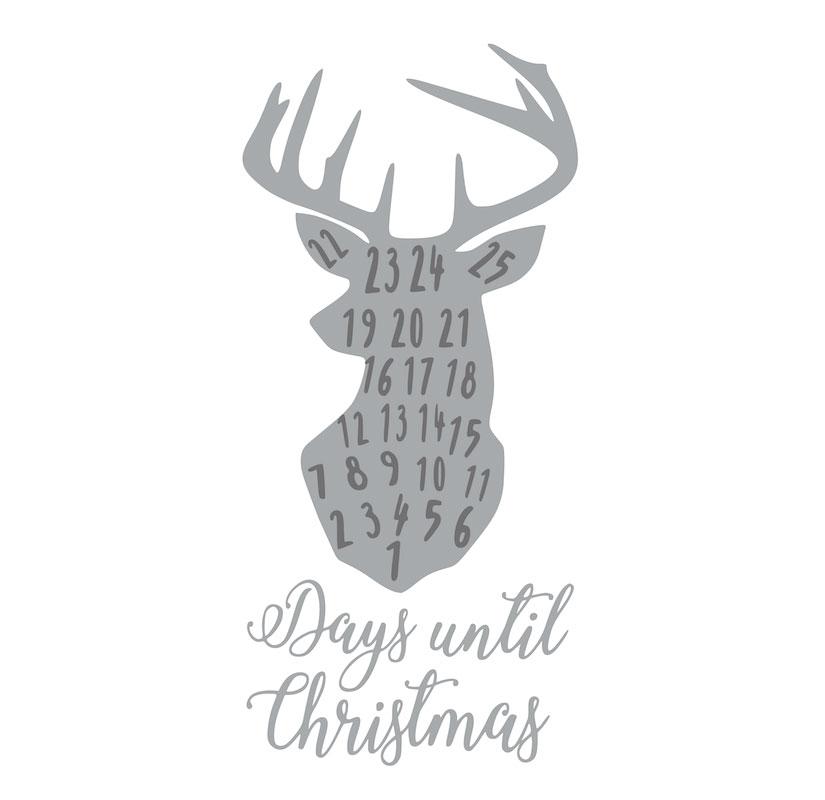1018 Countdown to Christmas Deer Head