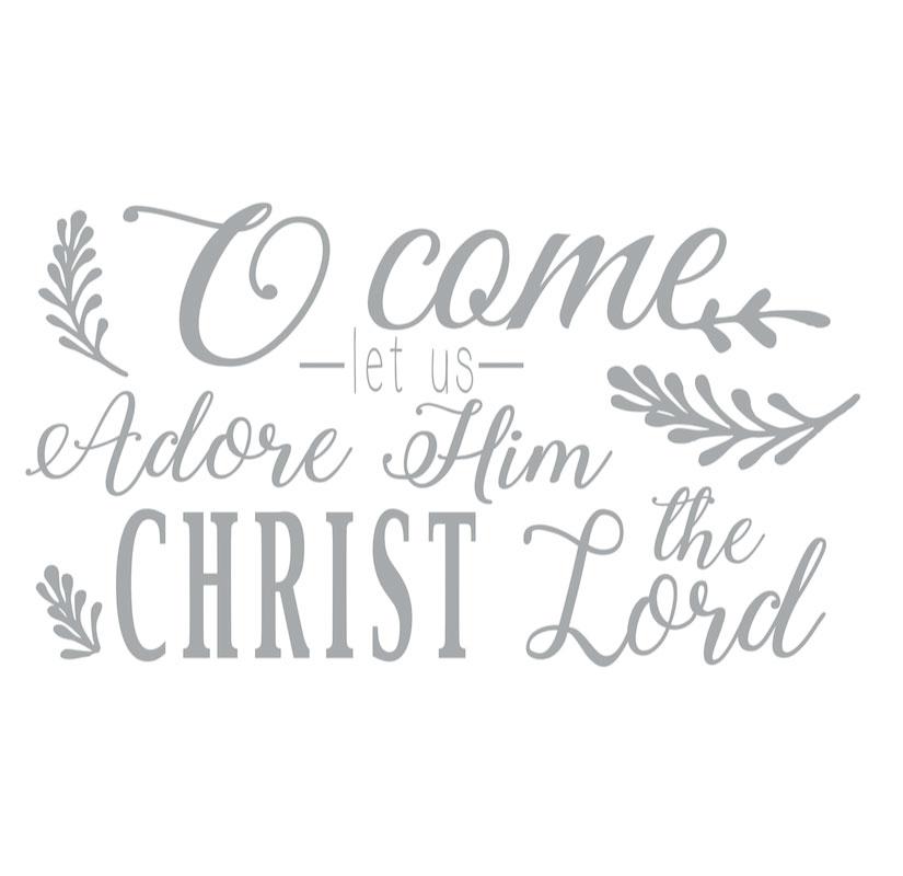 1020 O Come Let us Adore Him