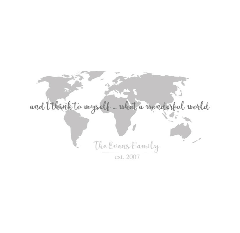 5092 World Map With Quote
