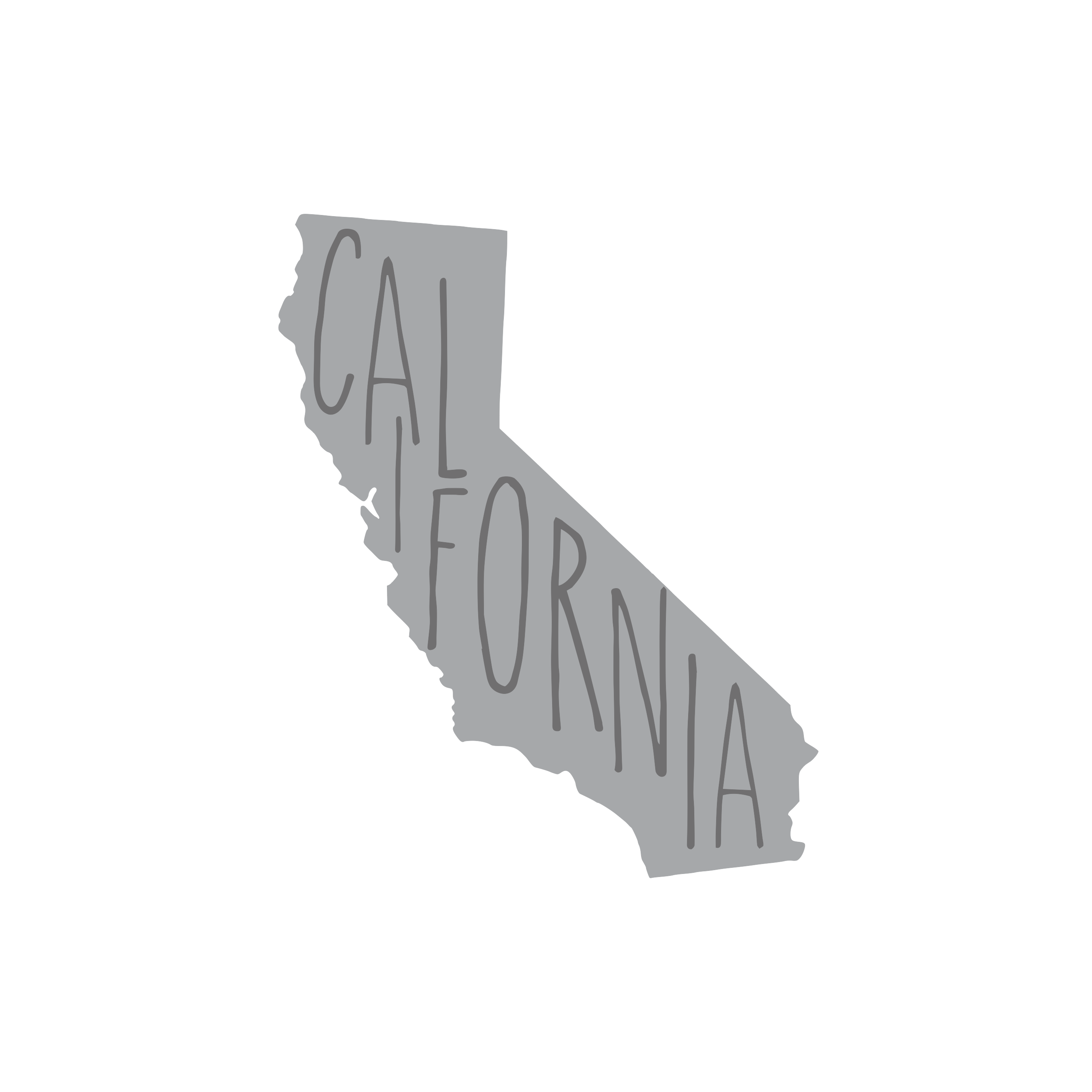 8041 California State w/ Words