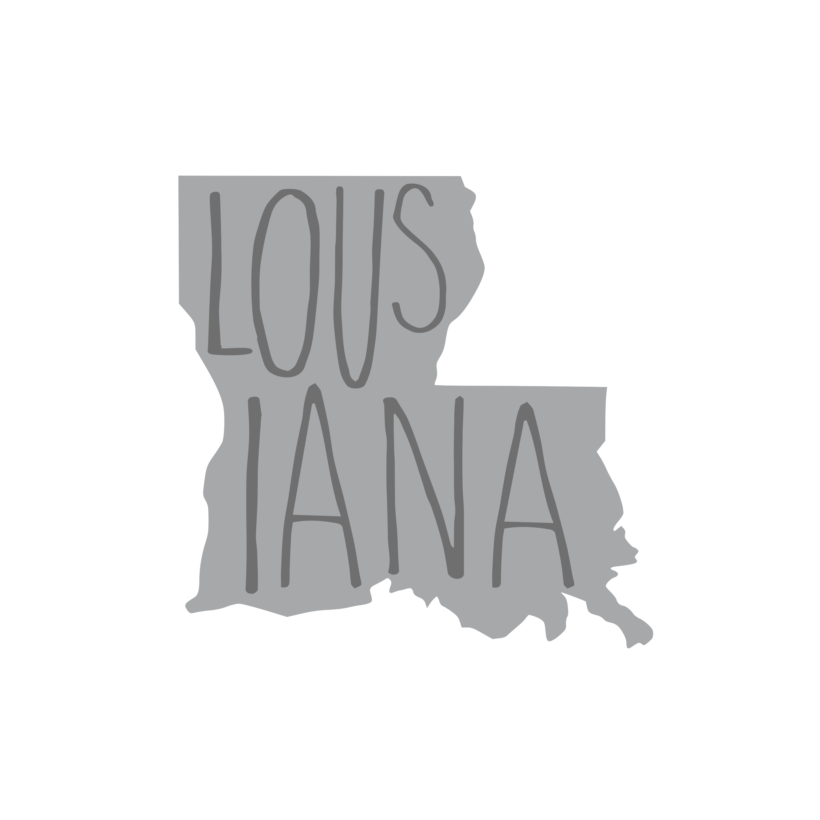 8171 Louisiana State w/ Words