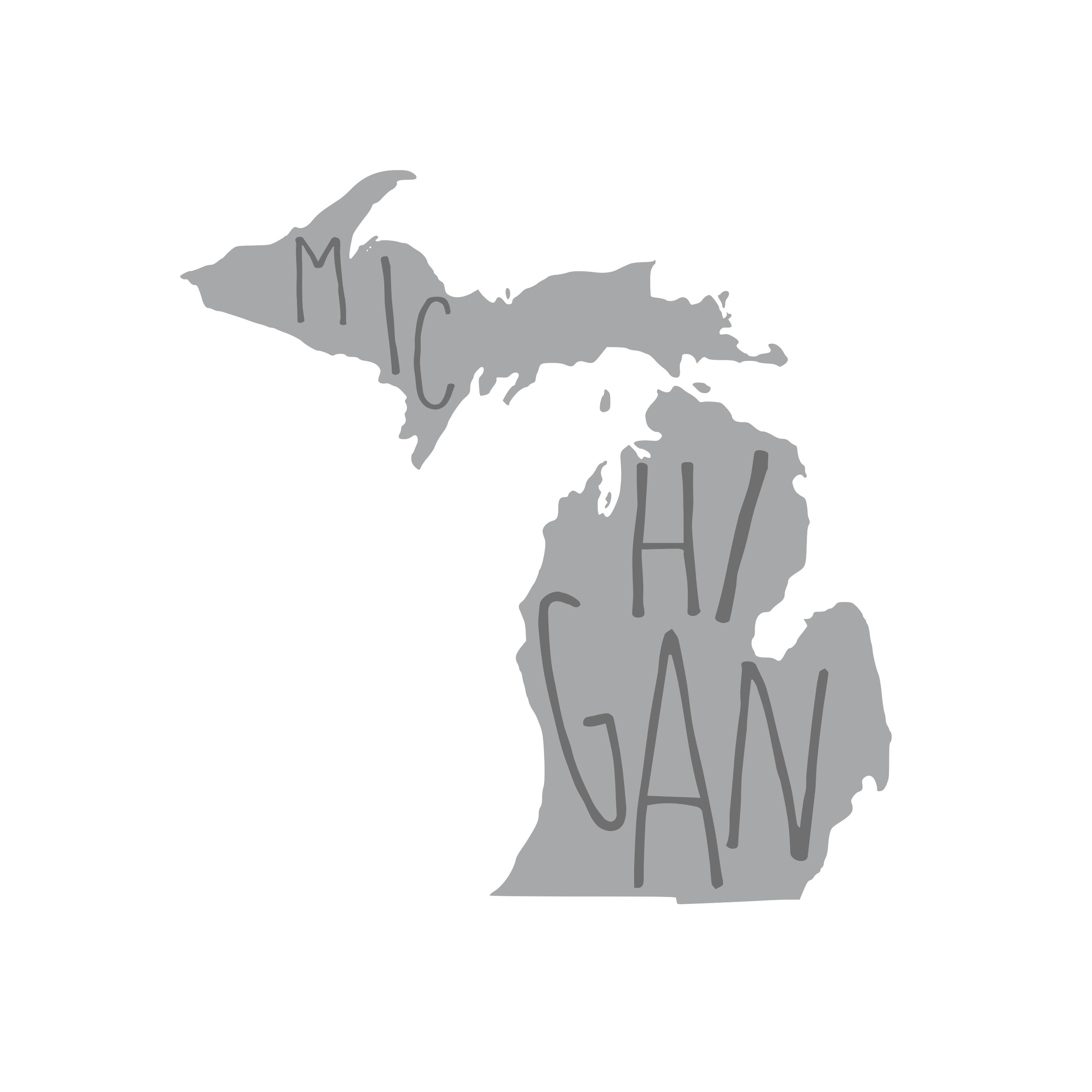 8211 Michigan State w/ Words