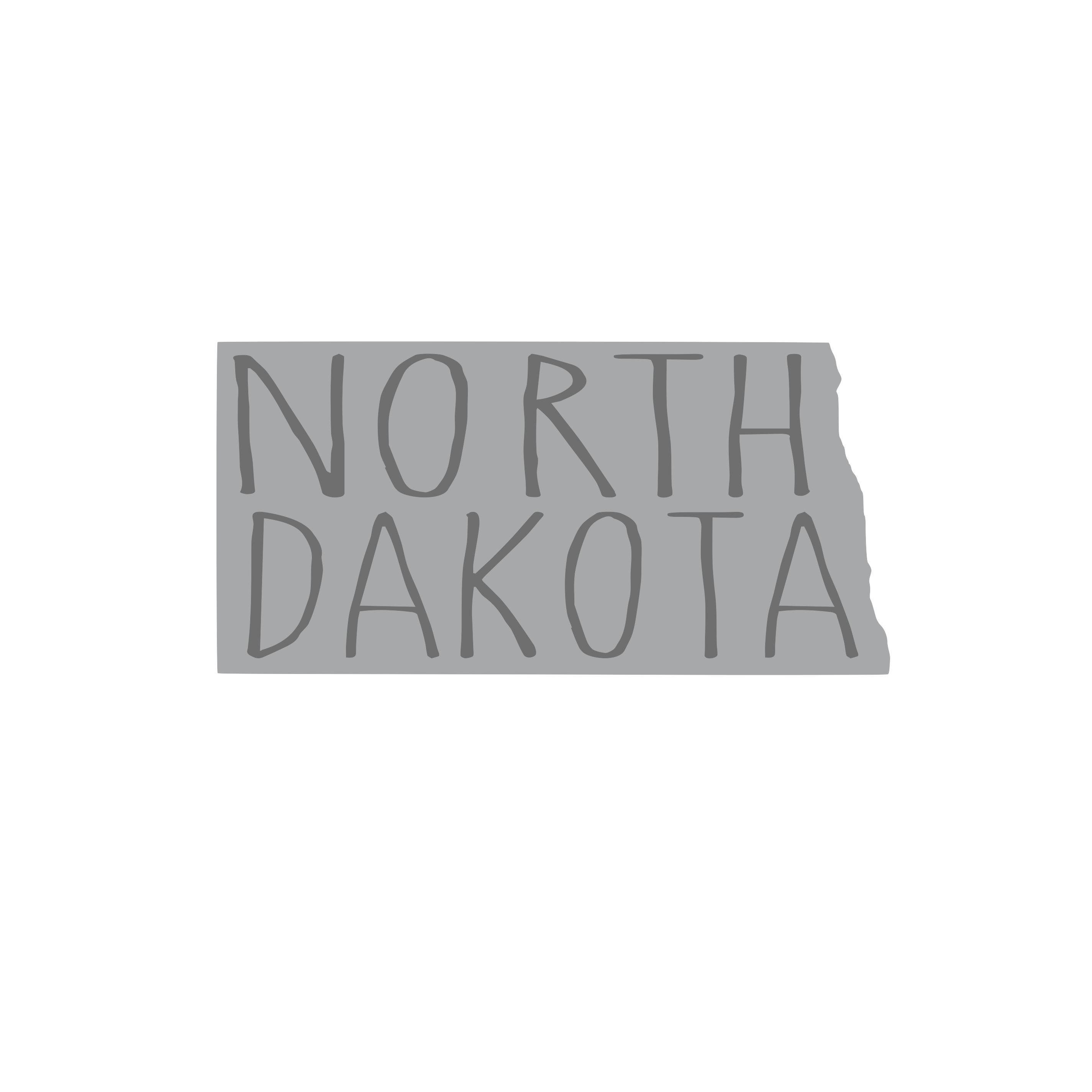 8331 North Dakota State w/ Words
