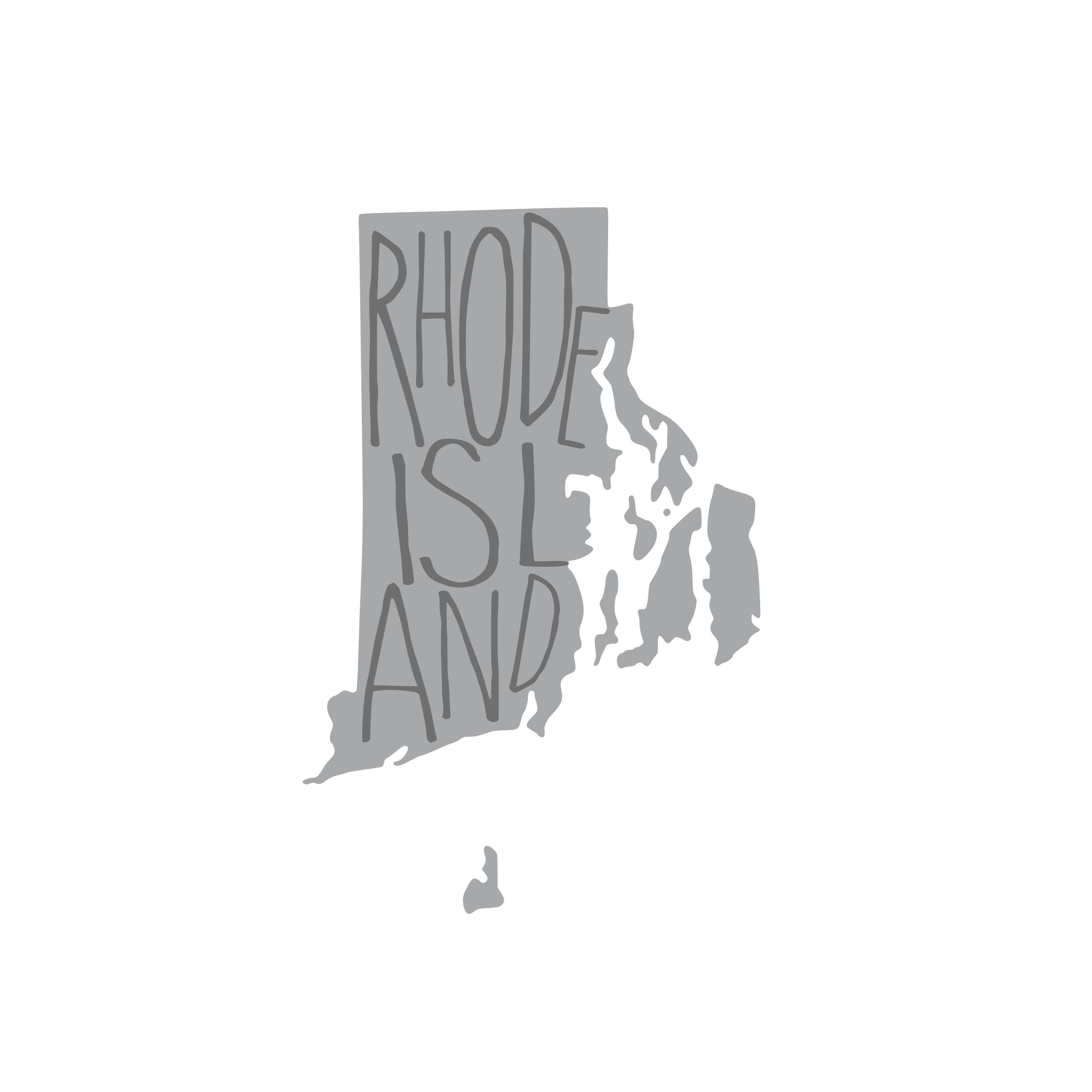 8381 Rhode Island State w/ Words
