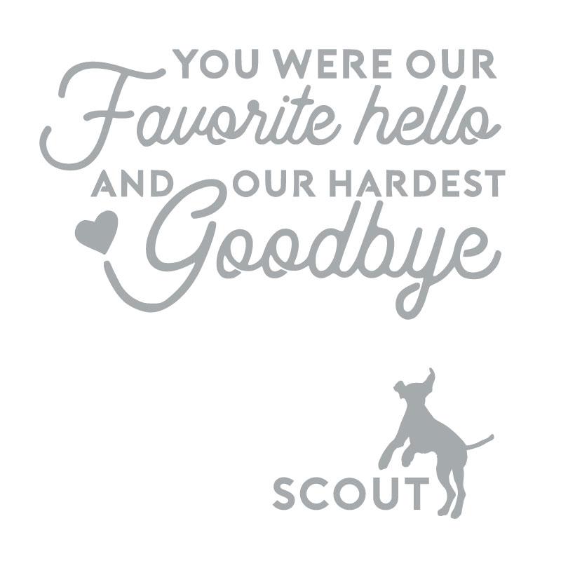 5186 Pet Good-bye