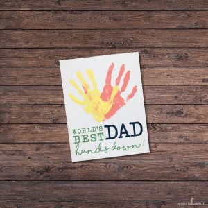 TM130 - Father's Day Handprint