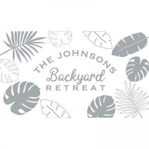 3063 Tropical Leaves Backyard