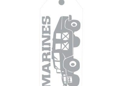 TM140- A Hero Lives Here Military Door Tags 5