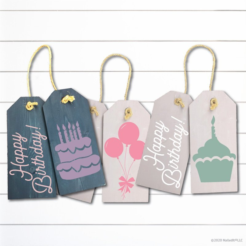 TM142- Happy Birthday Door Tags