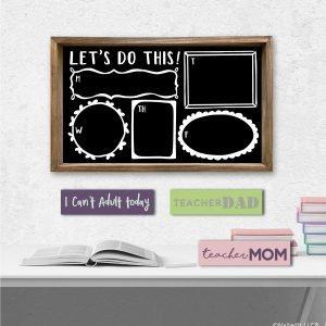SP158 Chalkboard Wall Planner 14x24