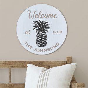 5354 Welcome Sign (Interchangeable Seasonal Artwork)